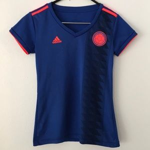 🍁 Adidas 2018-2019 Colombia Away Football Shirt